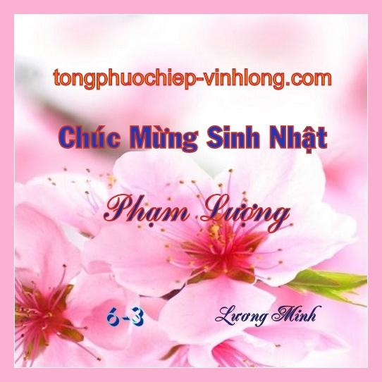 Chúc mừng sinh nhật chị Phạm Thị Lượng