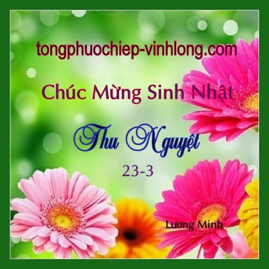 Chúc mừng sinh nhật Thu Nguyệt