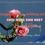 Chúc mừng sinh nhật Huỳnh Hương