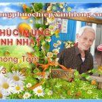 Chúc mừng sinh nhật anh Phong Tâm